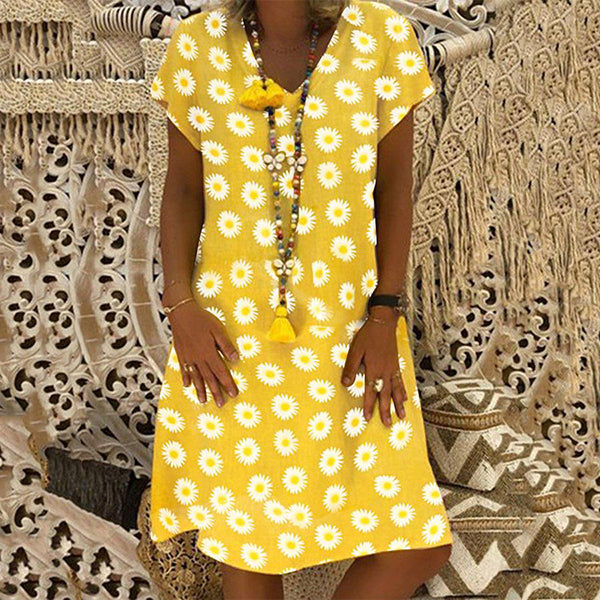 Fashion Daisy Printed Loose Dress