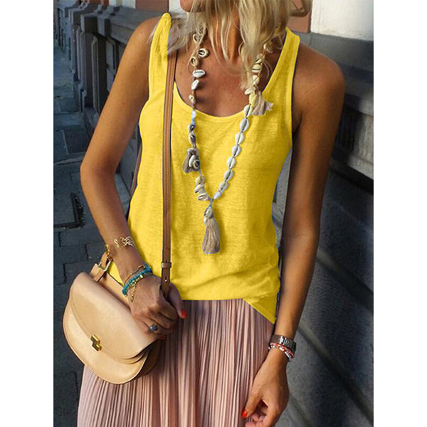 Summer Solid Color Holiday Vests