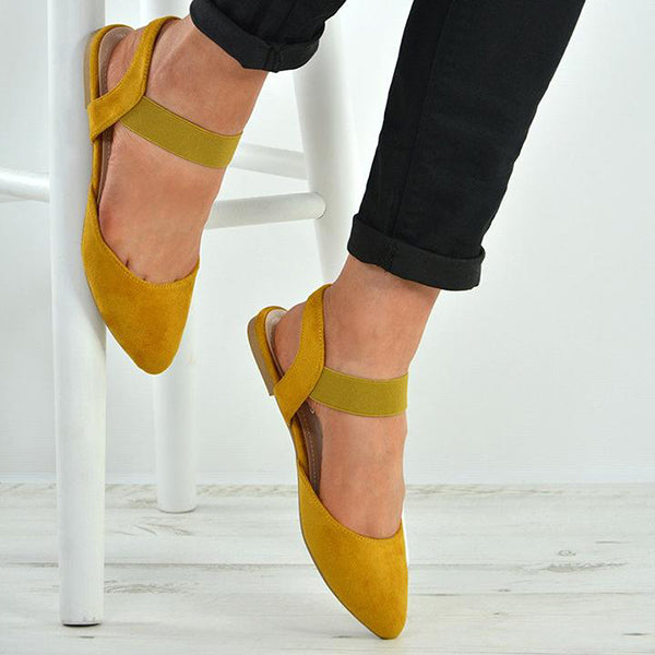 Simple Flat Solid Color Sandals