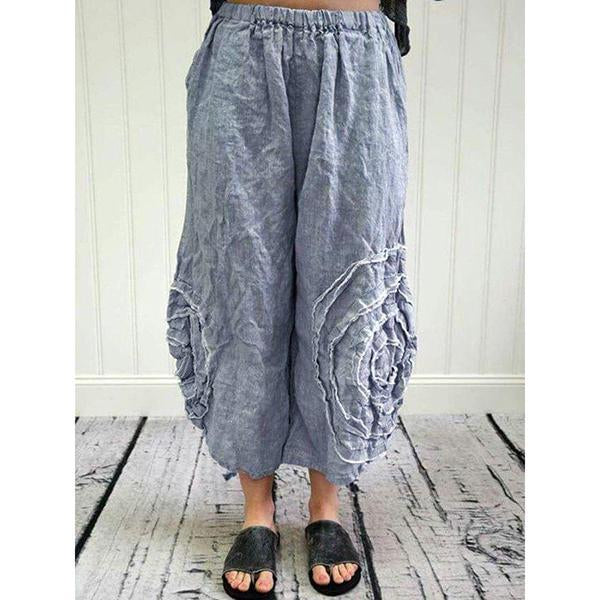 Plus Size Casual Retro Loose Pants