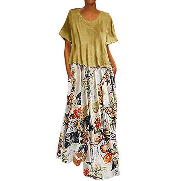 Two Pieces Plus Size Maxi Dress