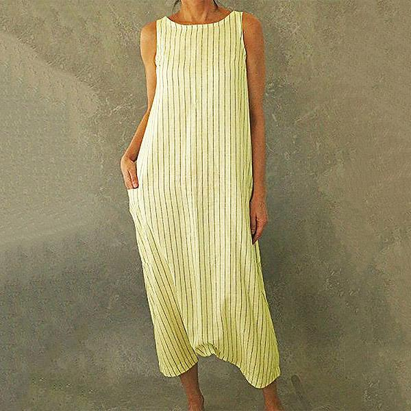 Women Shift Striped Casual Maxi Dress