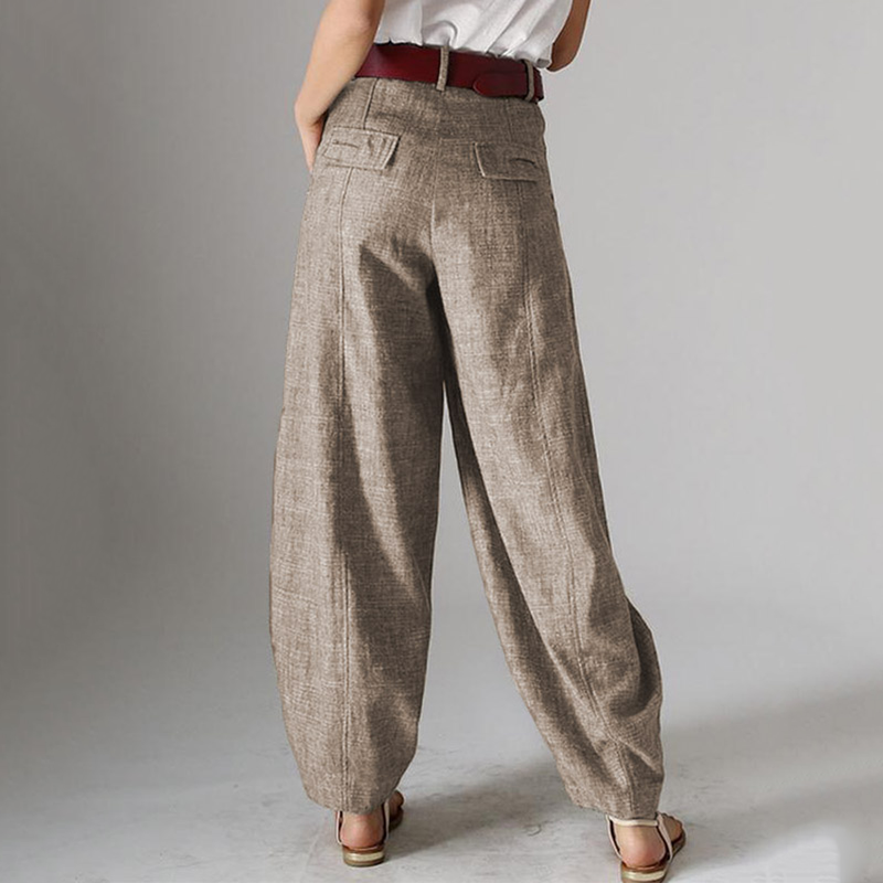 Casual Pure Color Wild Pants For Women