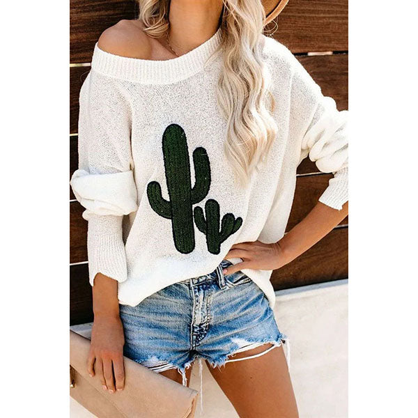 Women Round Neck Long Sleeve Sweaters