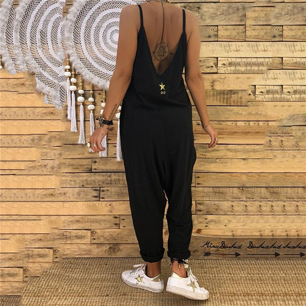 Casual Summer V Neck Sleeveless Jumpsuits