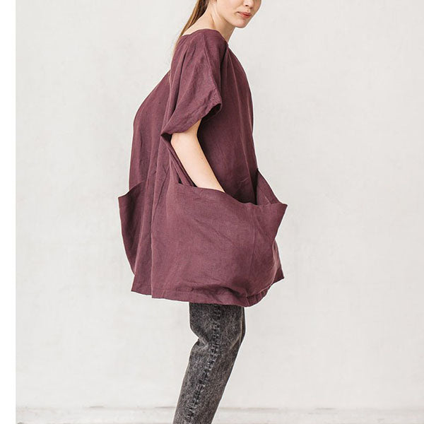 Daily Short Sleeve Loose Dress