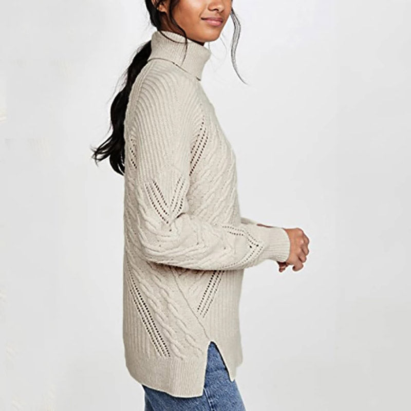 Women's Single Shoulder Collar Casual Sweater