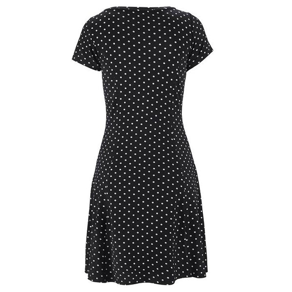 Casual Summer Polka Dot O-Neck Dress