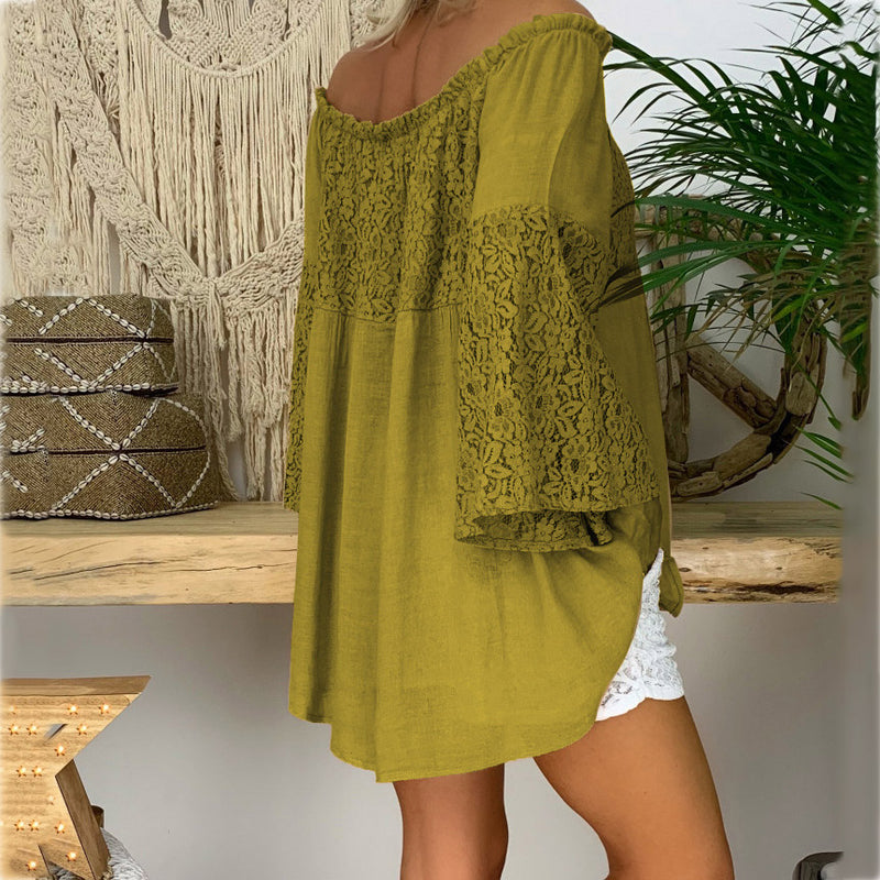 Women Solid Color Tops Casual Fall Blend Holiday Blouse