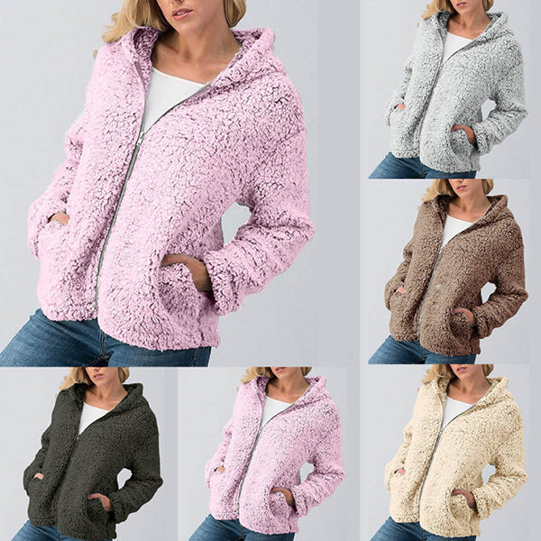 Zipper Sweatshirt Hooded Coats