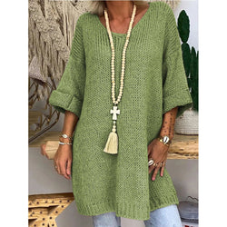 Women's Knitting Solid Color Dress