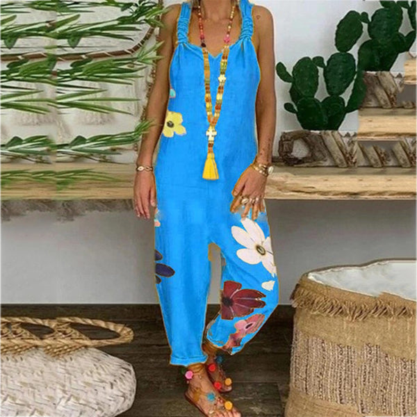 Casual Loose Printed Women Jumpsuits