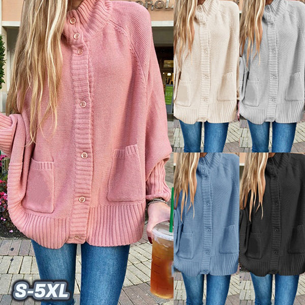 Casual Fall Buttons Plus Size Coats
