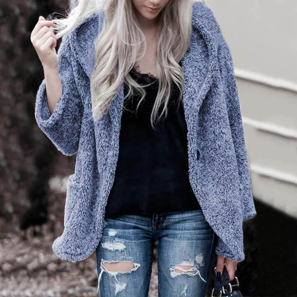 Women Velvet Plush Loose Cardigan