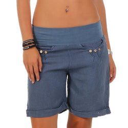 Summer Casual Solid Color Beach Shorts