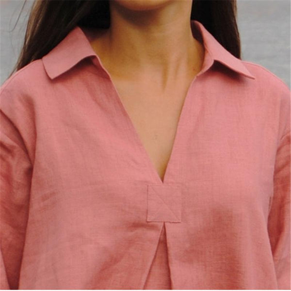 Casual Shirt Collar Buttoned Blouses