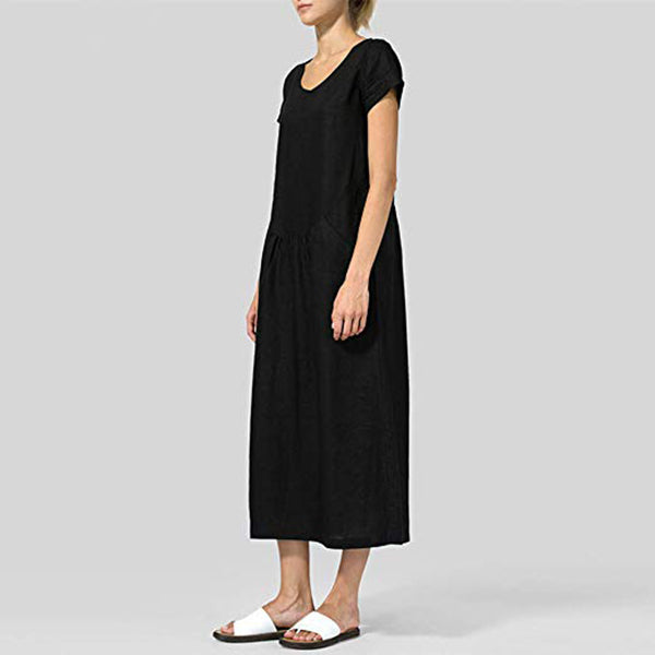 Daily Casual Loose Solid Color Dress