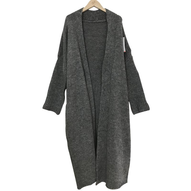 Solid Color Loose Bat Sleeves Cardigan