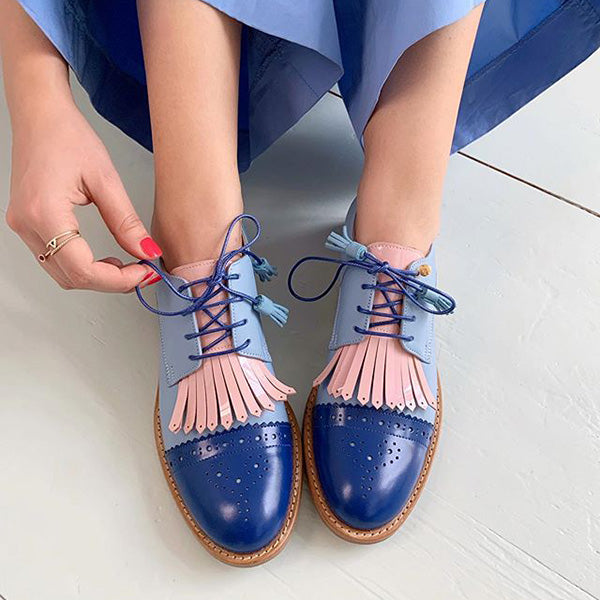 Casual Lace-Up Round Toe Flats