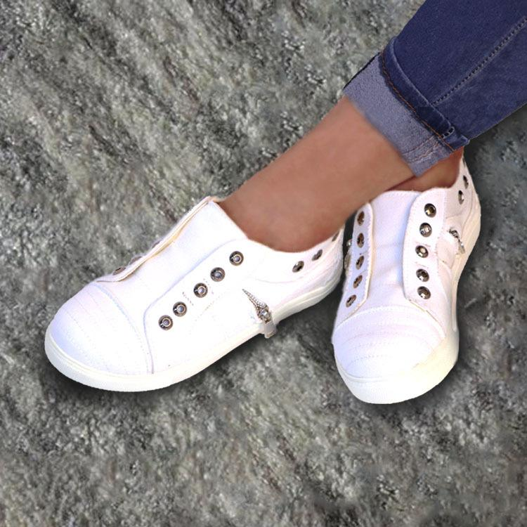 Casual Canvas Slip-on Flat Shoes