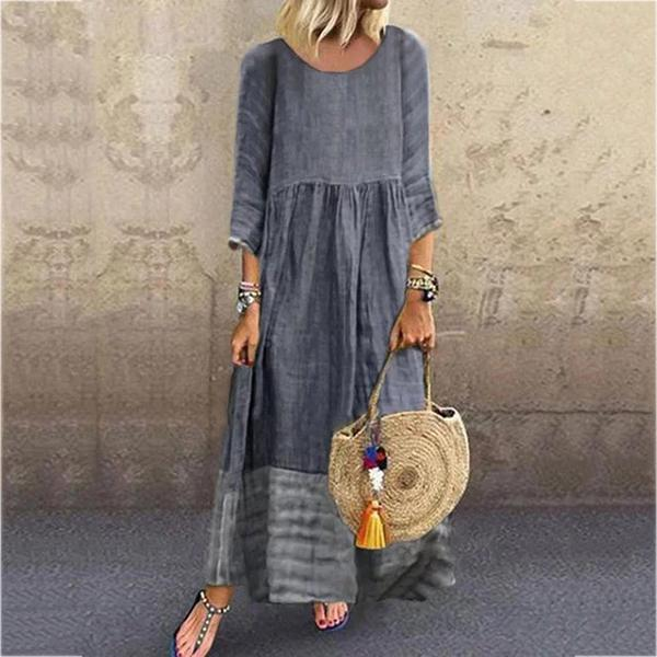 Daily Women Spliced Casual Maxi Dresses