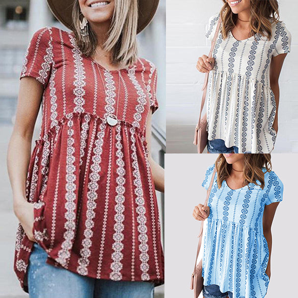 Bohemian Printed Loose Comfortable Blouse