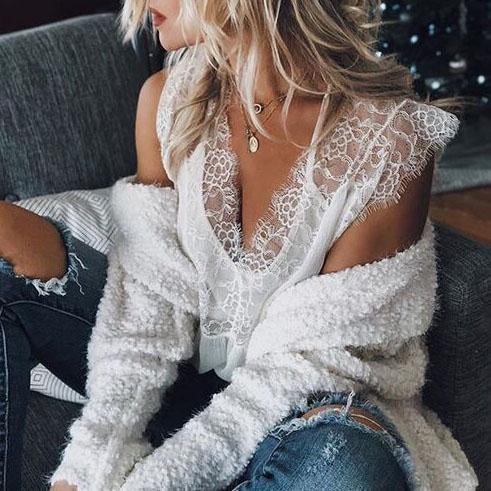 Women Summer Lace Vests