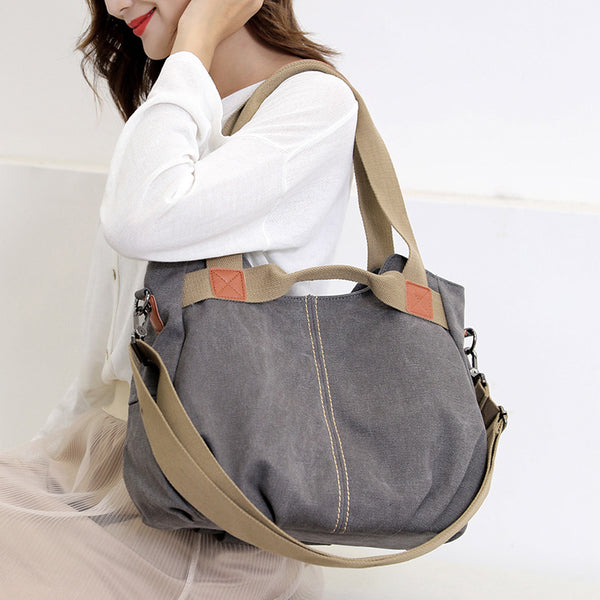 Shoulder Messenger Casual Tote Solid Handbag