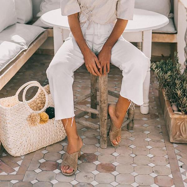 Summer Casual Open Toe Slip-On Slipperss