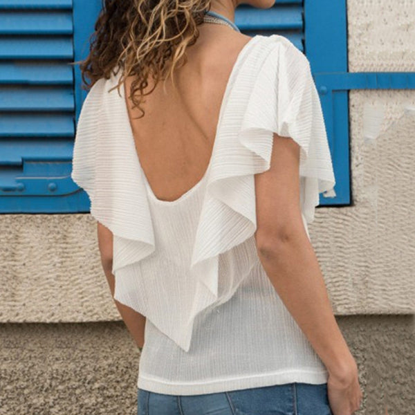 Irregular Round Neck Blouse