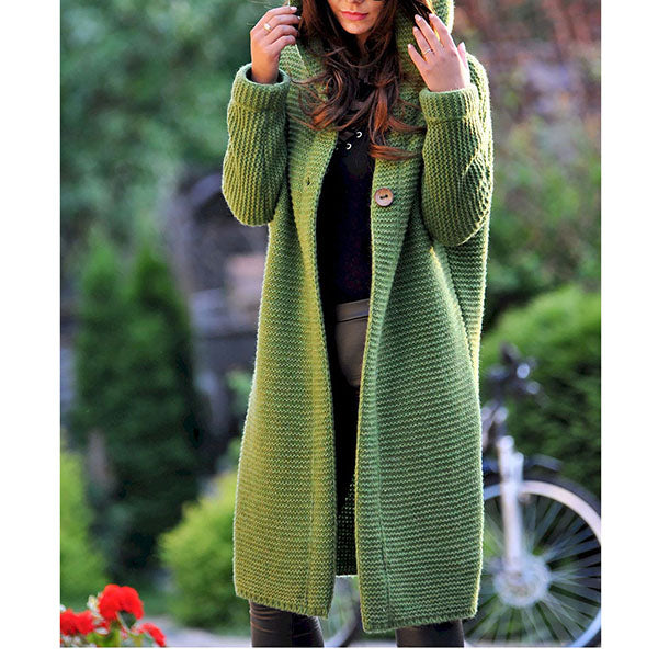 Long Sleeve V Neck Casual Coat