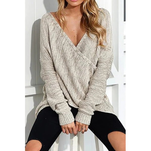 V Neck Front Cross Weekend Sweaters