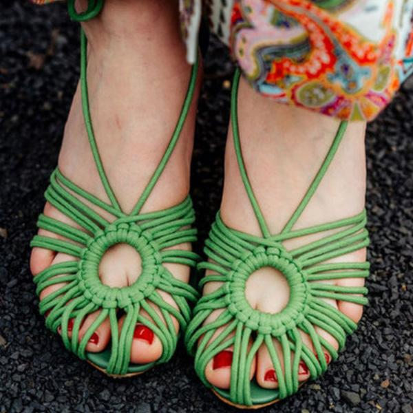 Casual Women Lace-Up Holiday Sandals