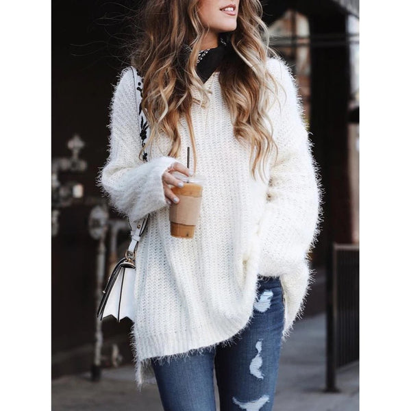 Loose Casual Knitted  Sweaters
