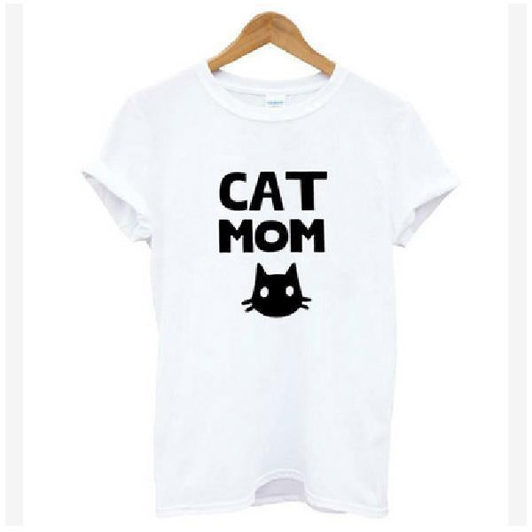 Cat Looking Outside Print Casual Funny T Shirt