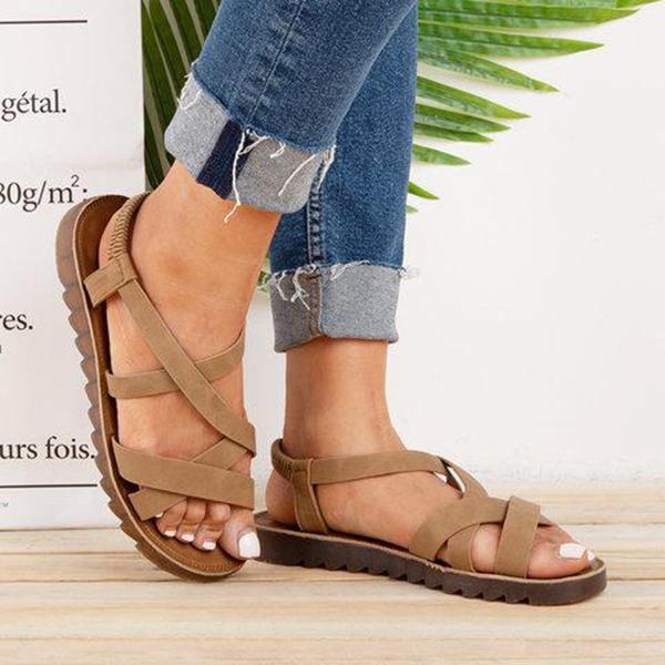 Casual Elastic Beach Sandals