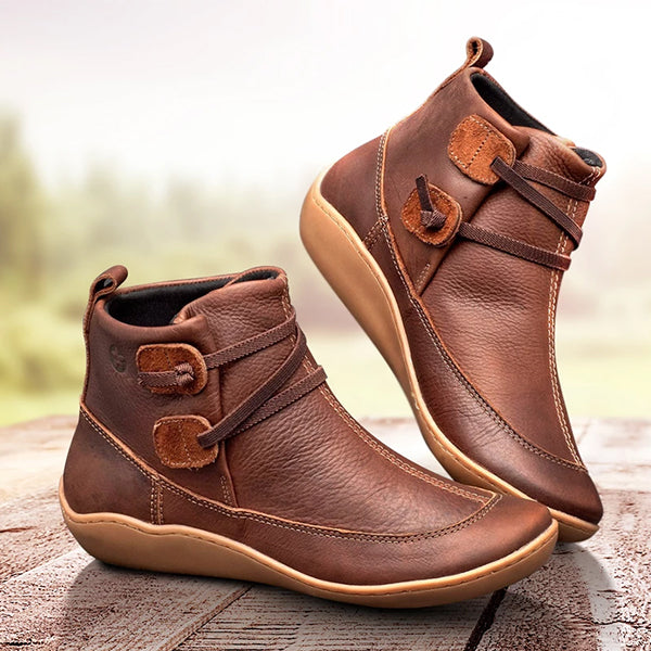 Casual Solid Color Braided Strap Boots