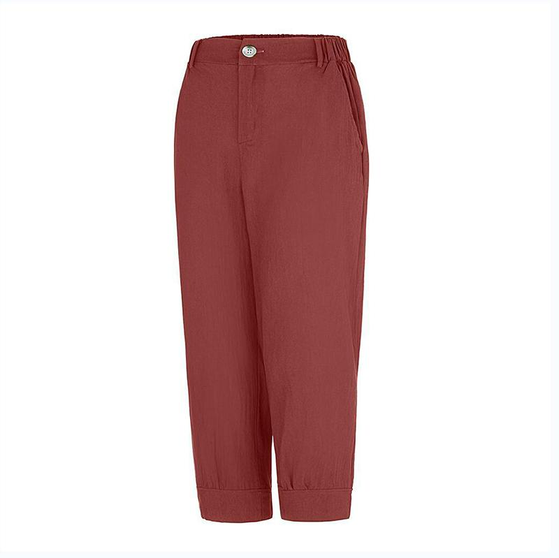 Fashion Casual Solid Color Pants