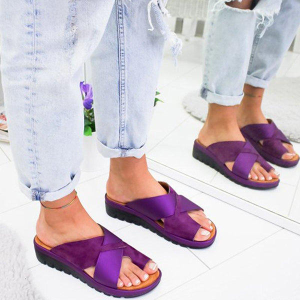 Casual Cross Strap Slip-On Slipper