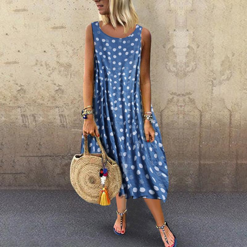 Casual Daily Dot Printed Dress