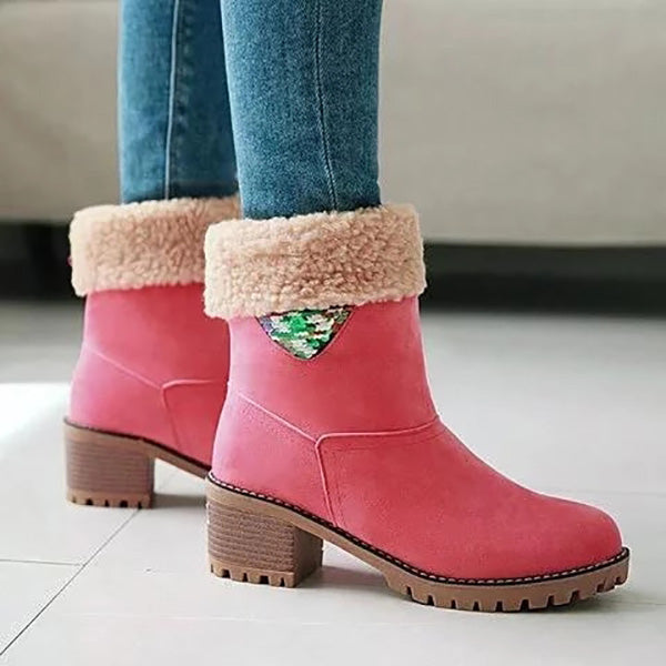 Casual Chunky Heel Winter Snow Boots