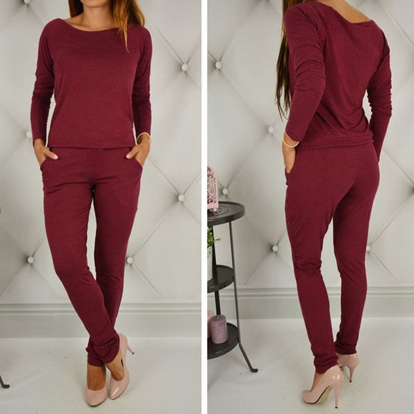 One Shoulder Plus Size Casual Lady's Elegant Jumpsuits
