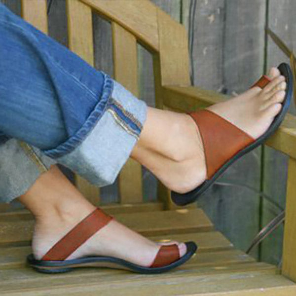 Simple Slip-On Flat Slippers