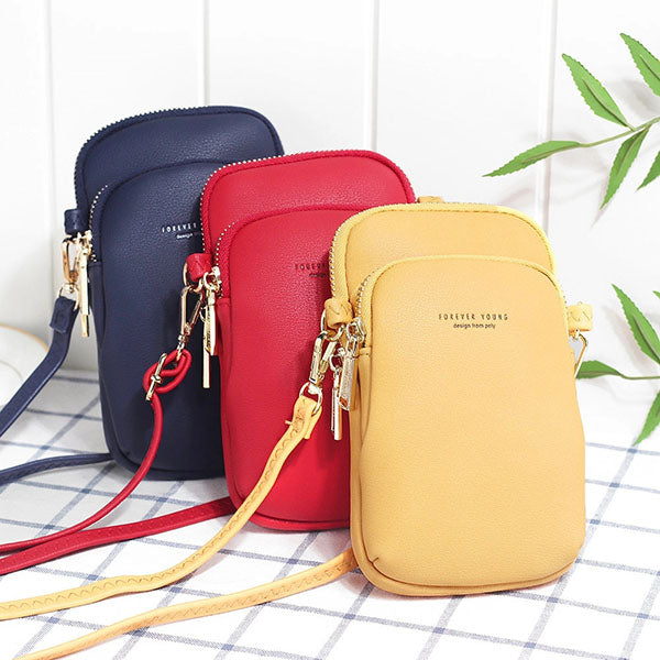 Women Casual Crossbody Solid Phone Bag