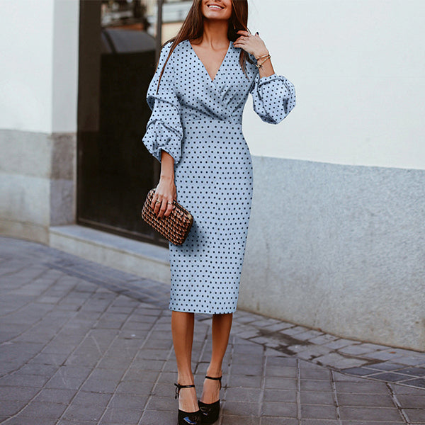 Elegant Polka-Dot Evening Dresses