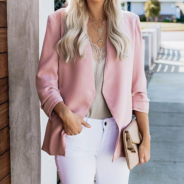 Casual Solid Color Simple Coats