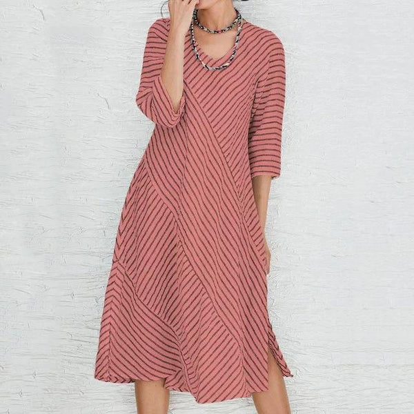 Summer Casual Stripe Printed Dress