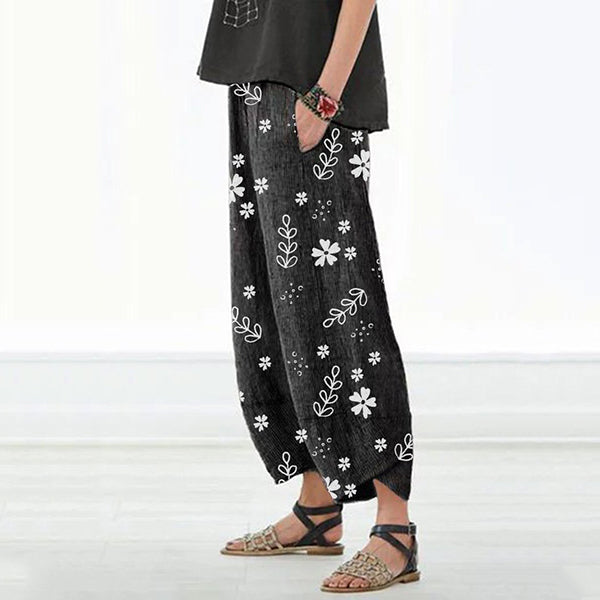 Casual Women Fall Floral Printed Pants