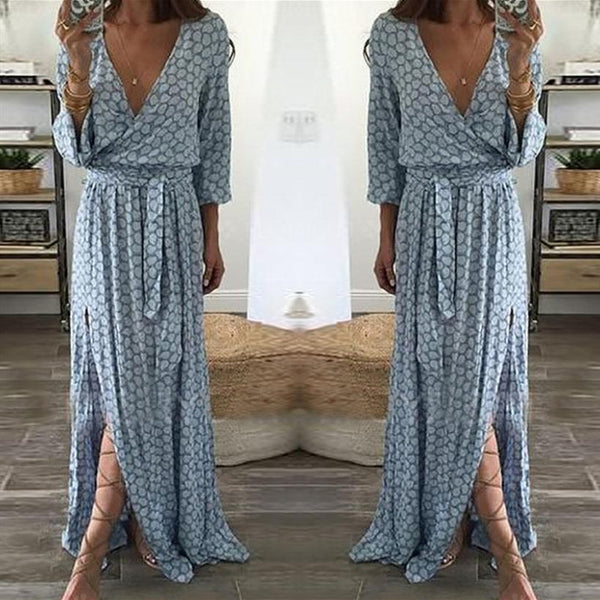 Light Blue Elegant Polyester Casual Dress