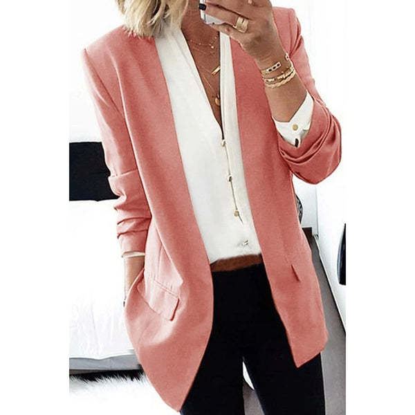 Women's Solid Color Slim Blazer